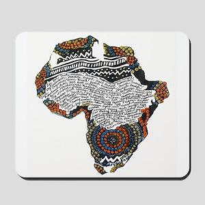 Beaded Africa Mousepad