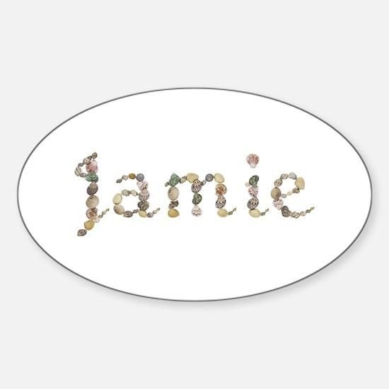 Jamie Seashells Oval Decal