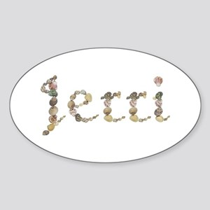 Jerri Seashells Oval Sticker