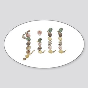 Jill Seashells Oval Sticker