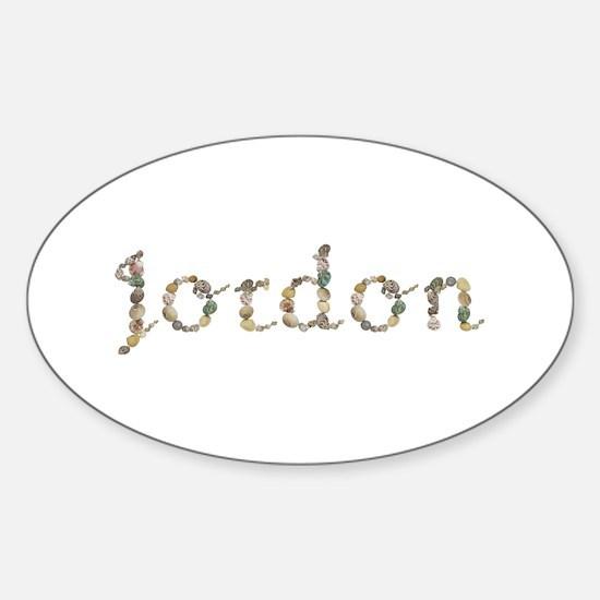 Jordon Seashells Oval Decal