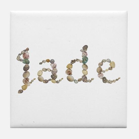 Jade Seashells Tile Coaster