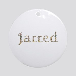 Jarred Seashells Round Ornament