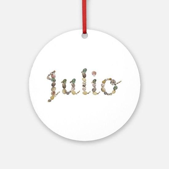 Julio Seashells Round Ornament