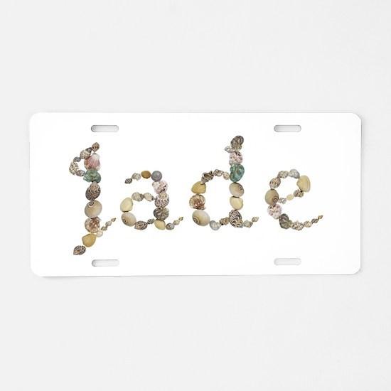 Jade Seashells Aluminum License Plate