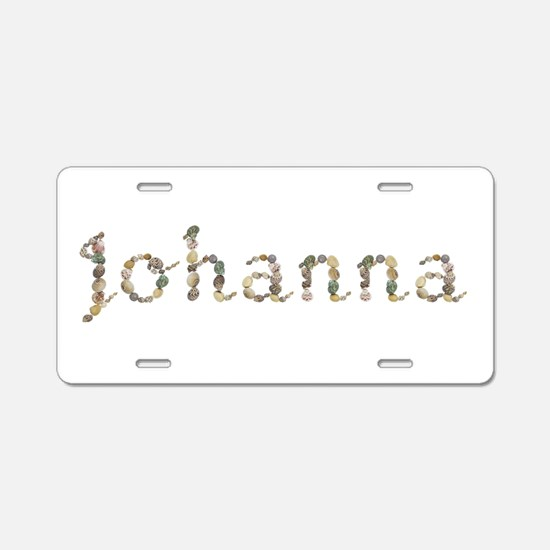 Johanna Seashells Aluminum License Plate