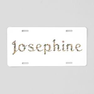 Josephine Seashells Aluminum License Plate
