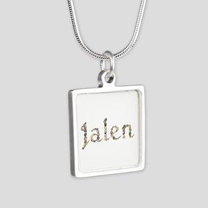 Jalen Seashells Silver Square Necklace