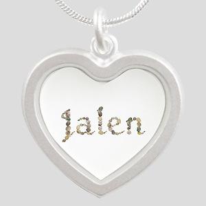 Jalen Seashells Silver Heart Necklace