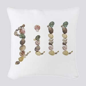 Jill Seashells Woven Throw Pillow
