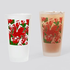 Welsh Dragon - Draig Drinking Glass