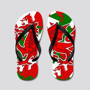 Welsh Dragon - Draig Flip Flops