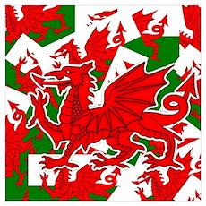 Welsh Dragon - Draig Poster