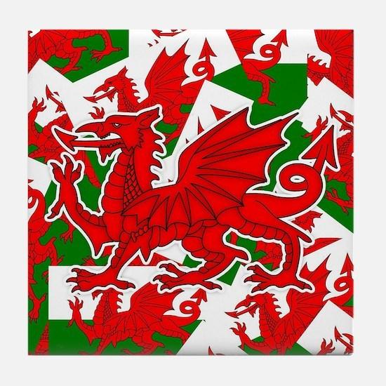 Welsh Dragon - Draig Tile Coaster