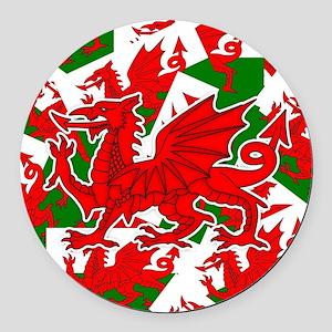 Welsh Dragon - Draig Round Car Magnet