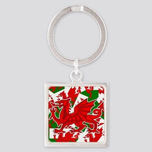 Welsh Dragon - Draig Square Keychain