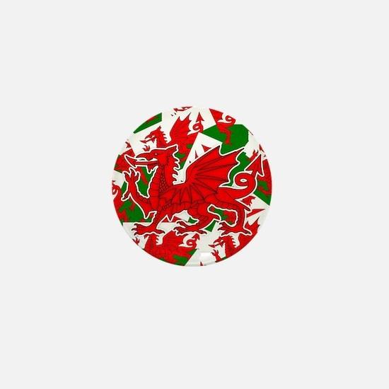Welsh Dragon - Draig Mini Button