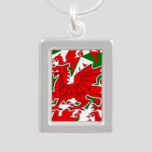 Welsh Dragon - Draig Silver Portrait Necklace