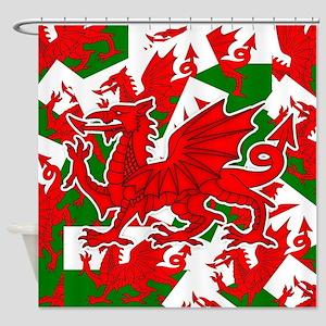 Welsh Dragon - Draig Shower Curtain