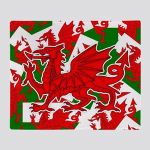 Welsh Dragon - Draig Throw Blanket