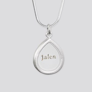 Jalen Seashells Silver Teardrop Necklace