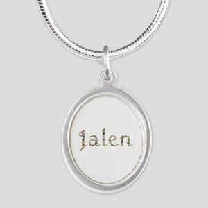 Jalen Seashells Silver Oval Necklace