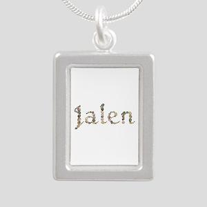 Jalen Seashells Silver Portrait Necklace