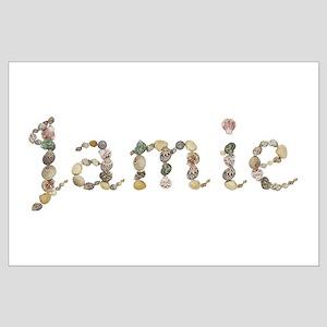 Jamie Seashells Large Poster