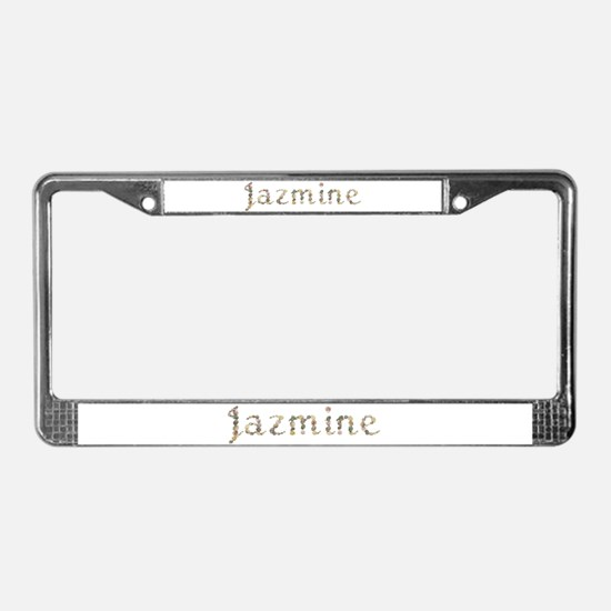 Jazmine Seashells License Plate Frame