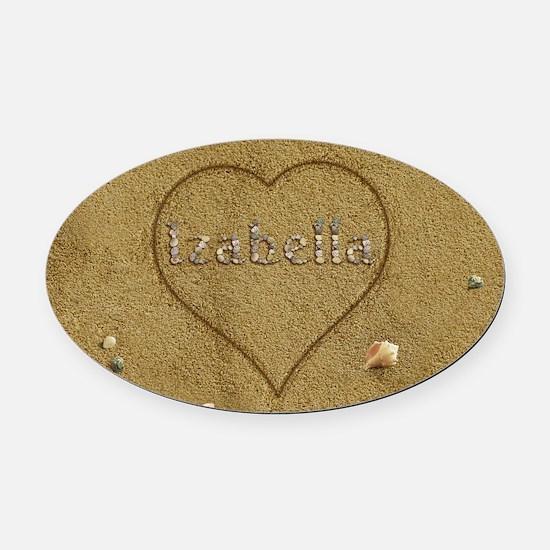 Izabella Beach Love Oval Car Magnet