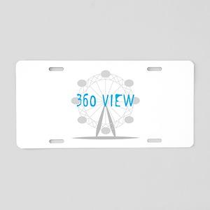 360 View Aluminum License Plate