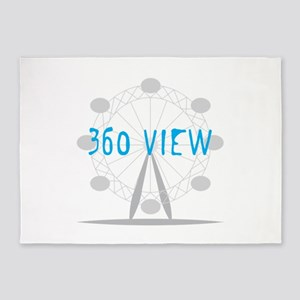 360 View 5'x7'Area Rug