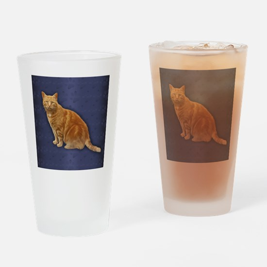 Ginger Cat  Drinking Glass