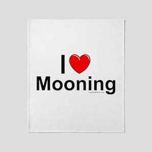 Mooning Throw Blanket