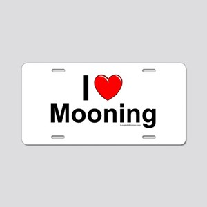 Mooning Aluminum License Plate
