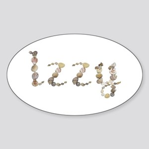 Izzy Seashells Oval Sticker