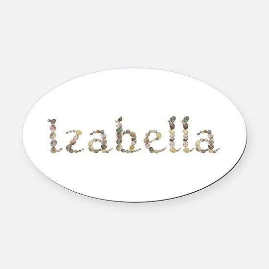 Izabella Seashells Oval Car Magnet