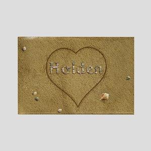 Holden Beach Love Rectangle Magnet