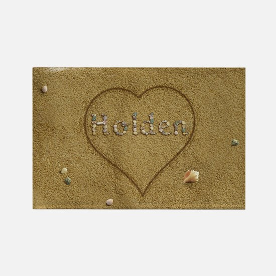 Holden Beach Love Rectangle Magnet