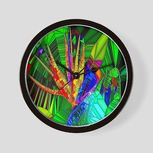 Bird of Paradise Stain Glass Art Wall Clock