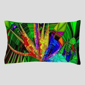 Bird of Paradise Stain Glass Art Pillow Case