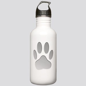 Metallic Dog Paw Print Stainless Water Bottle 1.0L