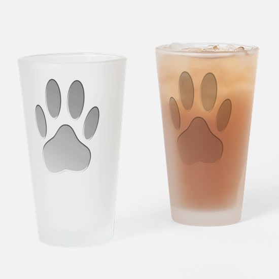 Metallic Dog Paw Print Drinking Glass