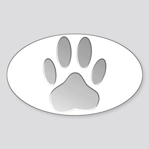 Metallic Dog Paw Print Sticker