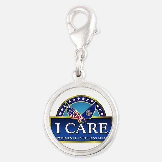 VA - I Care Silver Round Charm