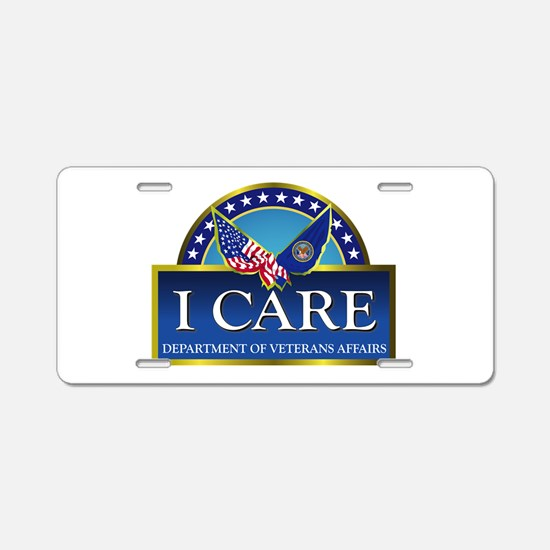 VA - I Care Aluminum License Plate