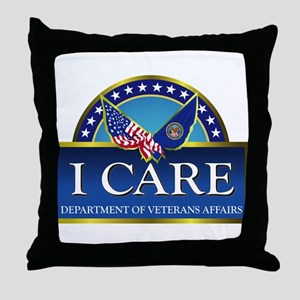 VA - I Care Throw Pillow