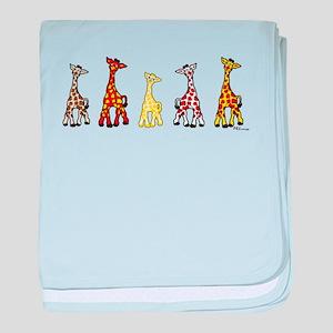 Baby Giraffes In A Row baby blanket