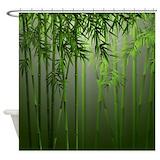 Bamboo jade mist Shower Curtains