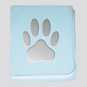 Metallic Dog Paw Print baby blanket